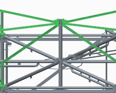 正六边形设备有机玻璃顶棚施工步骤